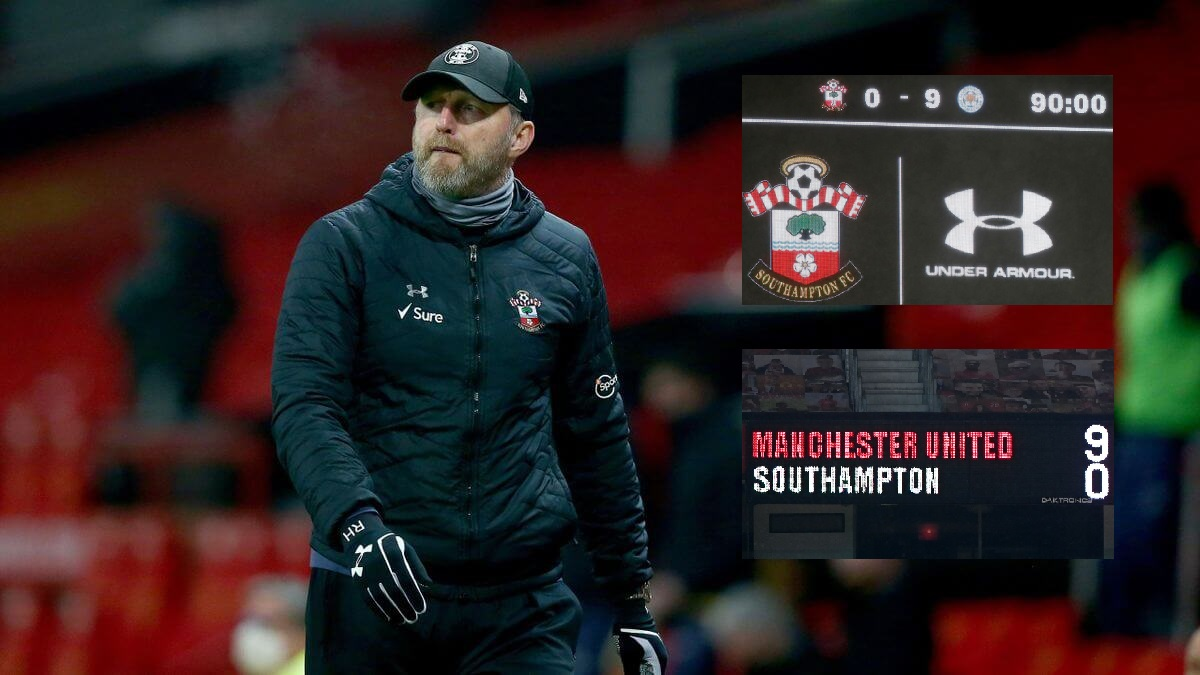 Ralph Hassenhuttl after Southampton's 9-0 defeat to Manchester United (Credit: Getty)